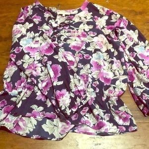 Jones of New York floral blouse